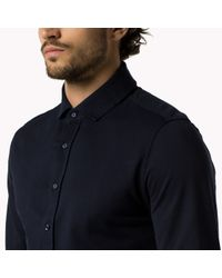 Tommy Hilfiger | Blue Cotton Pique Tailored Polo for Men | Lyst