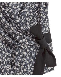 H&M | Black Wraparound Blouse | Lyst