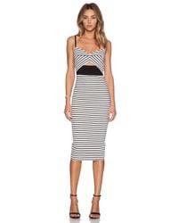 Nicholas - White Breton Stripe Bra Dress - Lyst