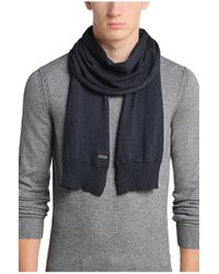 BOSS Orange | Blue Cotton Scarf: 'katapono' for Men | Lyst