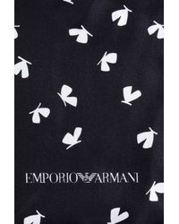 Emporio Armani - Black Scarf - Lyst
