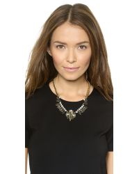 Rebecca Minkoff - Statement Necklace - Black Diamond Crystal - Lyst
