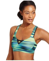 Adidas | Blue Supernova Compression Climacool® High-impact Sports Bra | Lyst