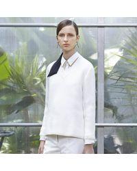 Trademark | White Vogler Waffle V-neck Sweater | Lyst