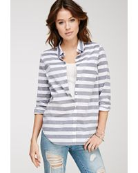 Forever 21 | Black Classic Striped Shirt | Lyst