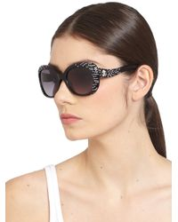 Roberto Cavalli | Black Altair Swarovski Crystal Sunglasses | Lyst