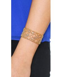 Alexis Bittar - Purple Lace Cuff Bracelet - Gold - Lyst