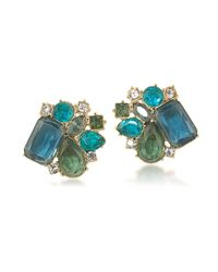 Carolee | Blue Central Park Boathouse Button Clip On Earrings | Lyst