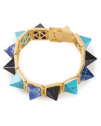 Eddie Borgo | Blue Gemstone Pyramid Bracelet | Lyst