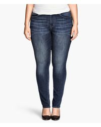 H&M | Blue + Straight Regular Jeans | Lyst
