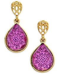 Style & Co. | Purple Style&co. Filigree Teardrop Earrings, Only At Macy's | Lyst