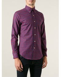 Lyst - Polo ralph lauren Checked Button Down Shirt in Blue for Men
