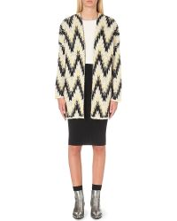Maje | Natural Marion Jacquard-knit Cardigan - For Women | Lyst