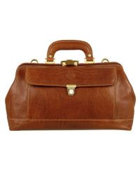 Chiarugi - Brown Genuine Italian Leather Doctor Bag for Men - Lyst