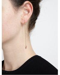 Carolina Bucci - Metallic 18karat Pink Gold and Diamond Owl Chain Earrings - Lyst
