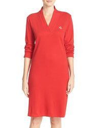 Lauren by Ralph Lauren - Red Cotton Nightgown - Lyst