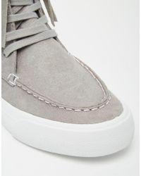 ASOS - Gray Doop Doop Fringed Trainers for Men - Lyst