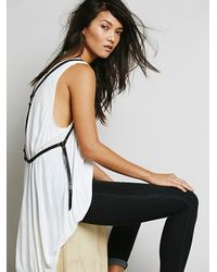 Free People | Black Suede Harness Vest | Lyst