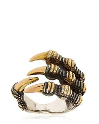 KD2024 - Metallic Ripped Claw Ring - Lyst