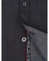 Ted Baker - Black Bigidea Micro Dobby Shirt for Men - Lyst