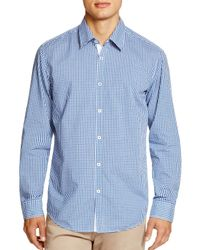 BOSS - Blue Boss Obert Check Regular Fit Button Down Shirt for Men - Lyst