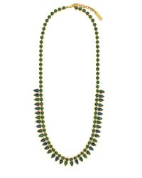 Vince Camuto | Green Gold-Tone Opal Stone Long Necklace | Lyst