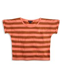 Forever 21 | Brown Striped Tee | Lyst