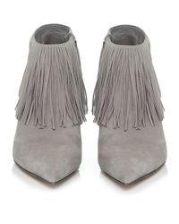 Sam Edelman | Gray Kandice Suede Fringe Boots | Lyst