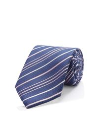 BOSS - Blue 'tie 6 Cm' | Slim, Patterned Cotton Tie for Men - Lyst