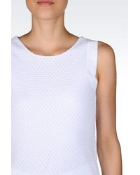 Emporio Armani - White Sleeveless Top - Lyst