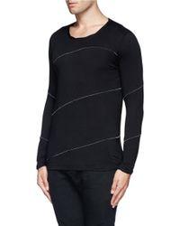 The Viridi-anne - Black Constrast Stitch T-shirt for Men - Lyst