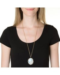 Emily & Ashley | Yellow Large Moonstone Ruffled Pendant | Lyst