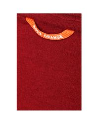 BOSS Orange | Red Cotton T-shirt With V-neck: 'tooley' for Men | Lyst