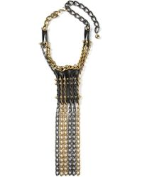 Lanvin - Metallic 'taliska' Necklace - Lyst