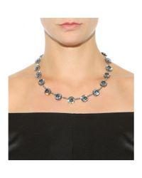 Bottega Veneta - Gray Cubic Zirconia-embellished Necklace - Lyst