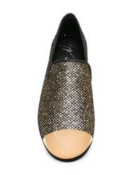 Giuseppe Zanotti | Metallic Contrasted Toe Cap Slippers for Men | Lyst