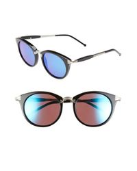 Wildfox | Black 'sunset Deluxe' 48mm Retro Sunglasses | Lyst