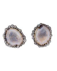 Kimberly Mcdonald - Metallic Geode Stud Earrings - Lyst