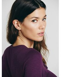 Free People | Purple Lucky Stretch-Cotton Tank Top | Lyst