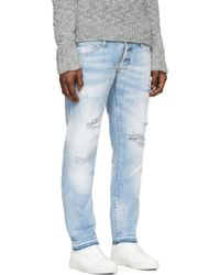 DSquared² | Blue Bleached And Distressed Slim Jeans for Men | Lyst