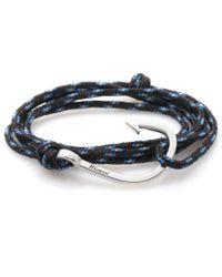 Miansai | Black / Blue Rope Silver Hook Bracelet for Men | Lyst