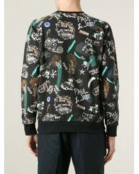 Paul & Joe   Black Paris Print Sweatshirt for Men   Lyst