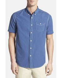 Tommy Bahama - Blue 'bueno Coast Cruiser' Island Modern Fit Dobby Camp Shirt for Men - Lyst
