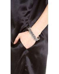 Rebecca Minkoff - Metallic Curbs Stud Bracelet - Lyst