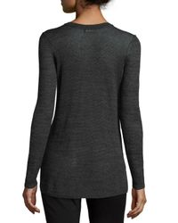 NIC+ZOE - Gray Firelight Long Lightweight Sweater Top - Lyst