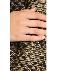 Gabriela Artigas | Metallic Pave Flat Axis Ring | Lyst