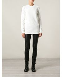 DRKSHDW by Rick Owens - White Long Fitted Top - Lyst