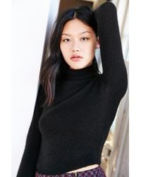 Kimchi Blue | Black Cozy Mock Neck Sweater | Lyst
