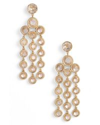 kate spade new york | Metallic Chandelier Earrings - Clear | Lyst