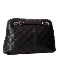 DKNY - Black Quilted Leather Shoulder Bag - Lyst